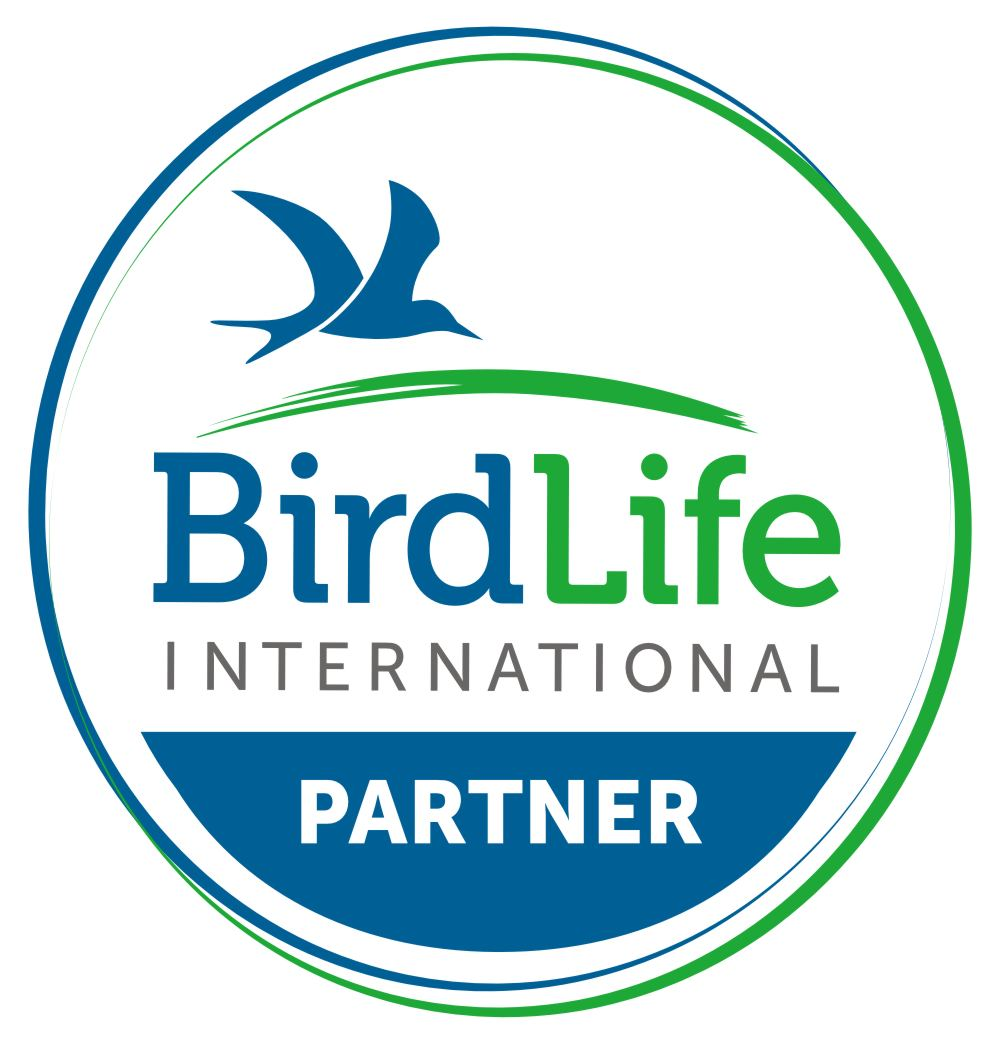Circle Blue Partner Stamp BirdLife
