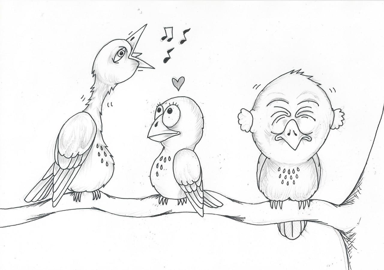 fugl tegning